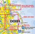 Qatar and Doha City Travel Reference map
